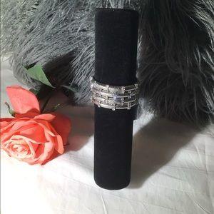 Four layer silver bracelet